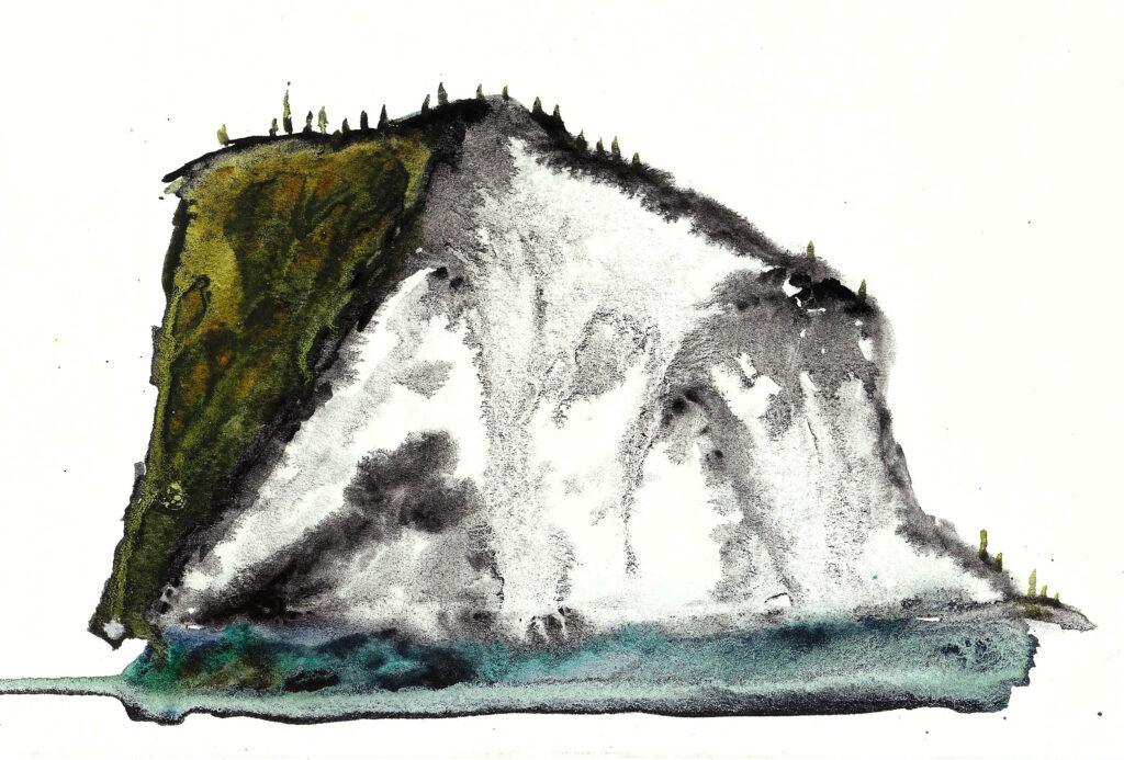 Waipio Valley. Watercolor on watercolor paper. Janice Greenwood. Original Art.