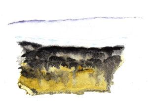 Landscape. Watercolor on watercolor paper. Janice Greenwood. Original Art.