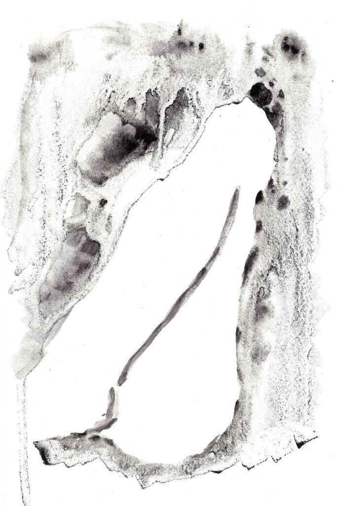 Leg. Watercolor on watercolor paper. Janice Greenwood. Original Art.