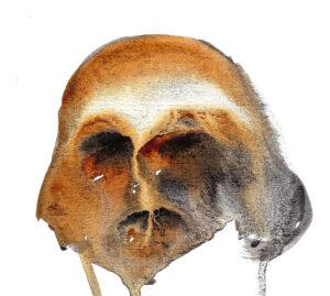Skull. Watercolor. Janice Greenwood. Original Art.