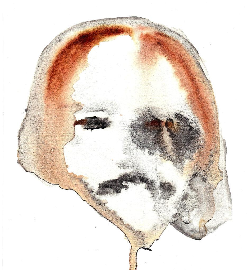 Yorick. Watercolor. Janice Greenwood. Original Art.