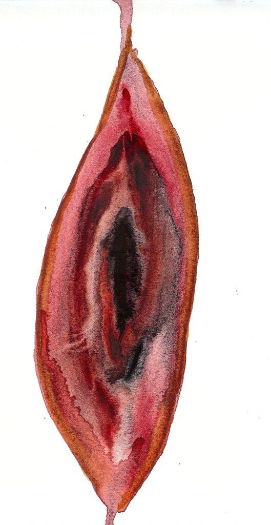 Big Ti Leaf. Watercolor. Janice Greenwood. Original Art.