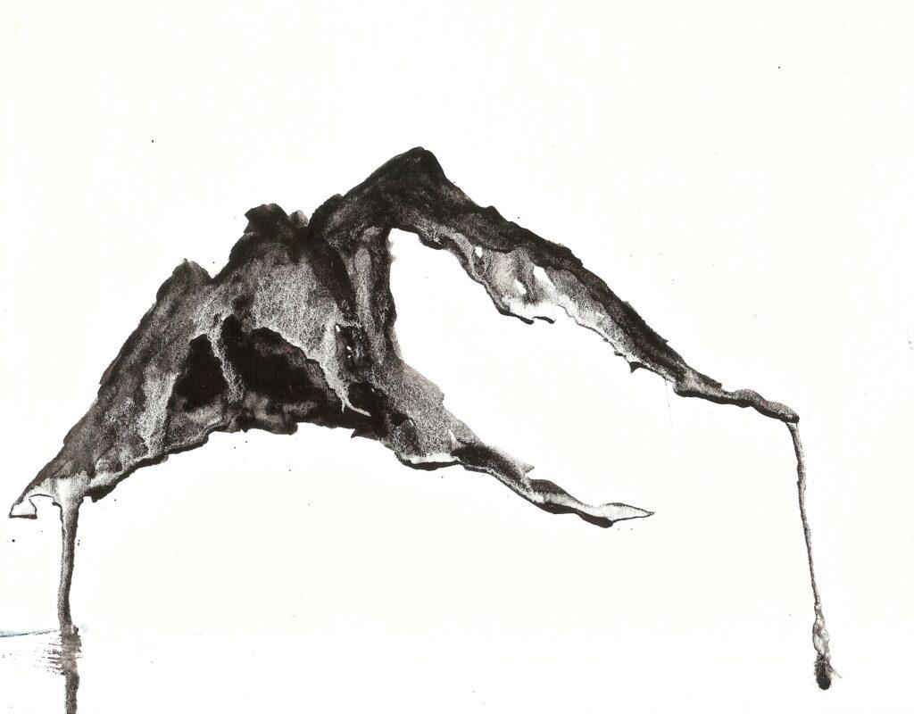 Mountain. Watercolor. Janice Greenwood. Original Art.