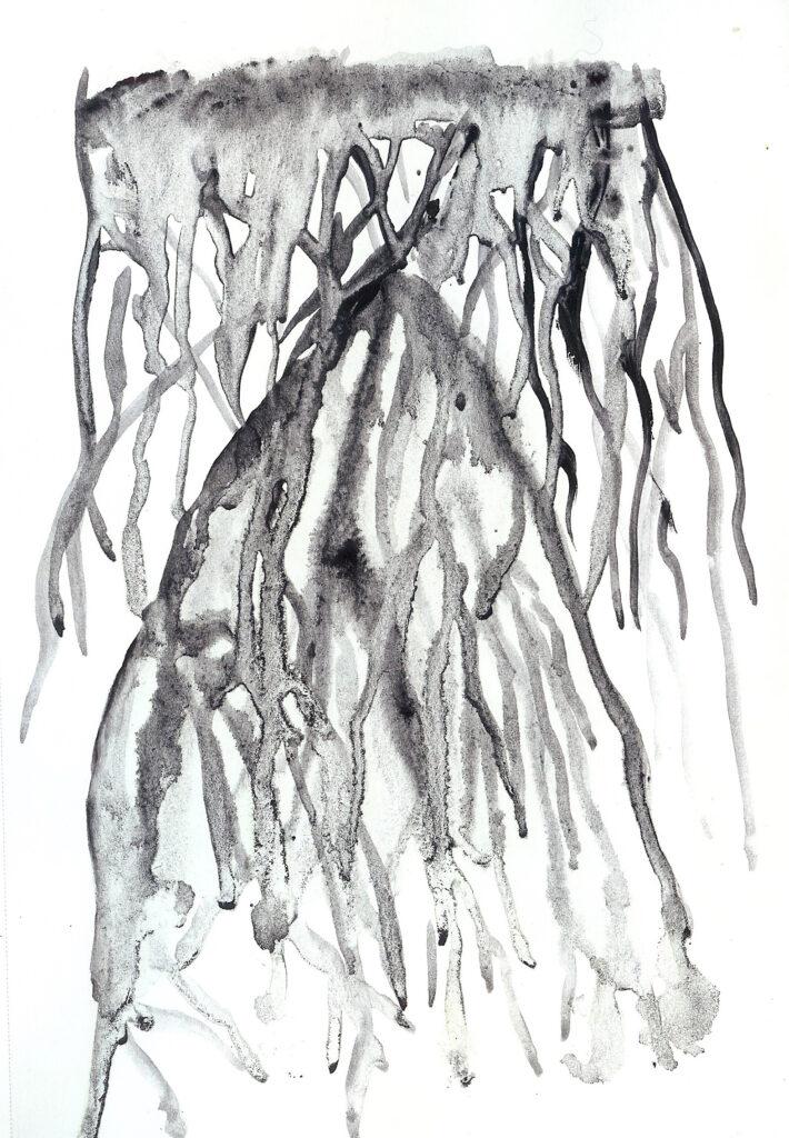 Habit of Water. Watercolor. Janice Greenwood. Original Art.