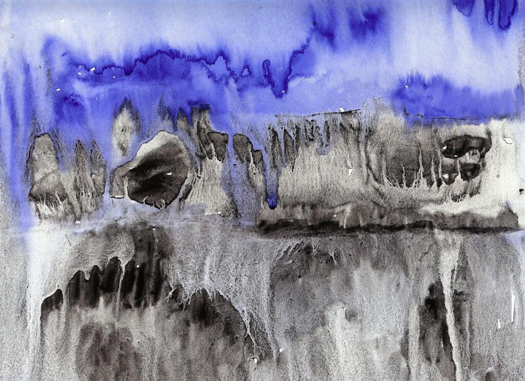 Rising Sea Levels. Watercolor. Janice Greenwood. Original Art.