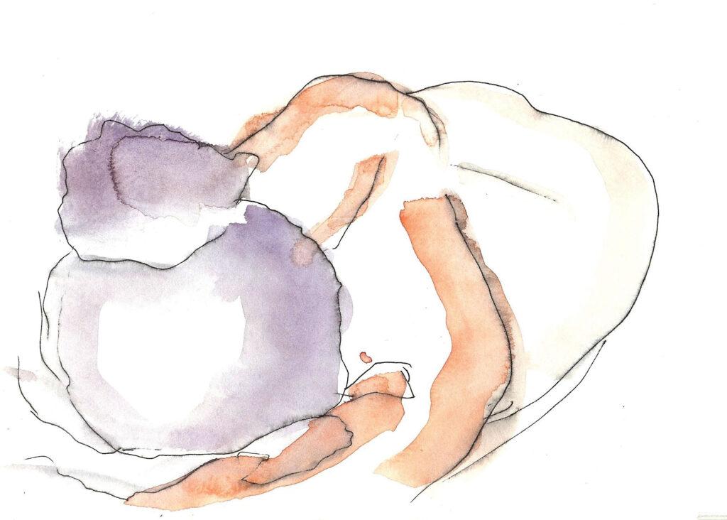 Compliance. Watercolor. Janice Greenwood. Original Art.