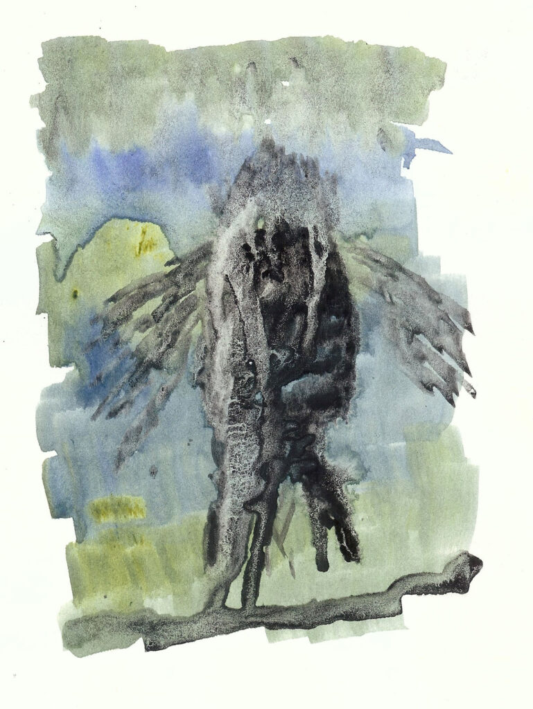 Coelacanth. Watercolor. Janice Greenwood. Original Art.