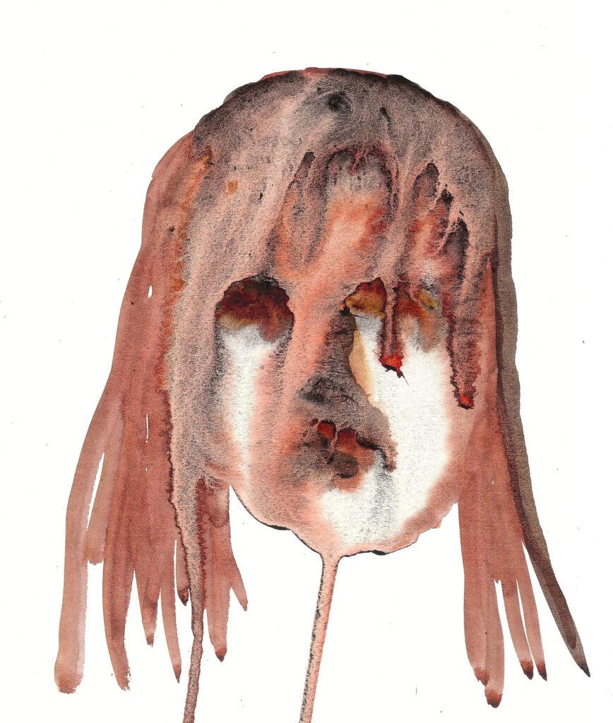Mary Magdalene of Chinatown. Watercolor. Janice Greenwood. Original Art.