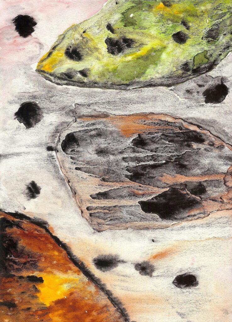 The Mycelium: The Interconnectedness of all Beings. Watercolor. Janice Greenwood. Original Art.