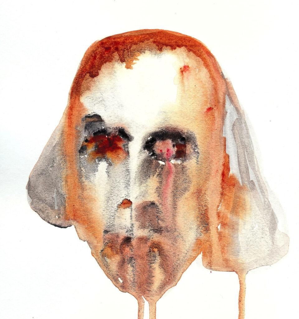 Hamnet. Watercolor. Janice Greenwood. Original Art.